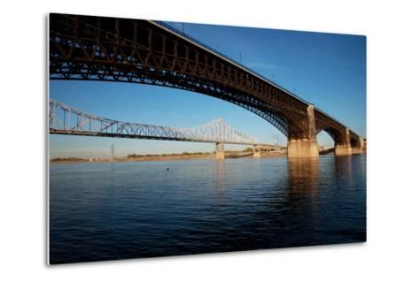Eads Bridge on the Mississippi River, St. Louis, Missouri-Joseph Sohm-Metal Print