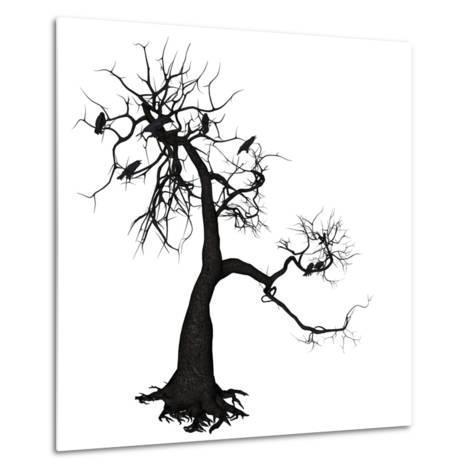 Crow Tree-artshock-Metal Print
