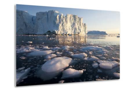 Icebergs in Disko Bay in Greenland-Paul Souders-Metal Print