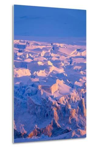 Midnight Sun Lights Glacier, Antarctica-Paul Souders-Metal Print