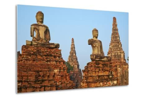 Wat Chai Wattanaram, Ayutthaya Historical Park, Ayutthaya, Thailand, Southeast Asia, Asia--Metal Print
