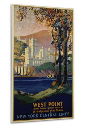 West Point - New York Central Lines Travel Poster-Frank Hazell-Metal Print