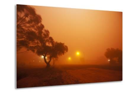 Dust Storm in the Australian Outback-Paul Souders-Metal Print