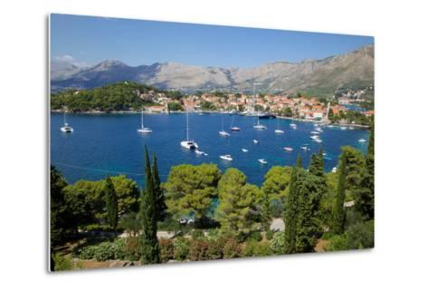 View of Old Town and Adriatic Coast-Frank Fell-Metal Print