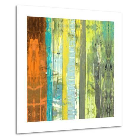 Embellished Vibrant Stripes II-Jennifer Goldberger-Metal Print
