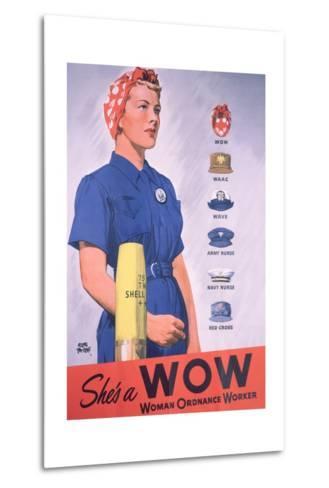 She's a Wow Poster-Adolph Treidler-Metal Print