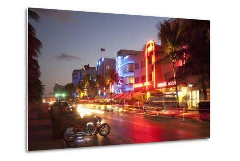 Ocean Drive, South Beach, Art Deco District-Angelo Cavalli-Metal Print