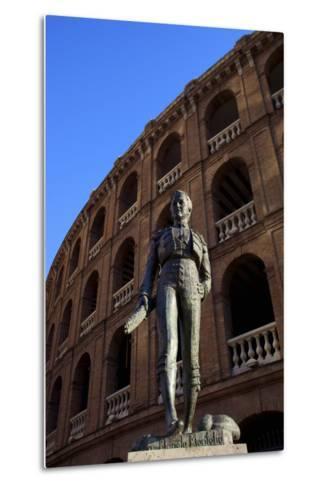 Statue of the Toreador Manolo Montoliu, Plaza De Toros, Valencia, Spain, Europe-Neil Farrin-Metal Print