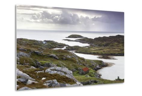 View Out to Sea over Abandoned Crofts at the Township of Manish-Lee Frost-Metal Print