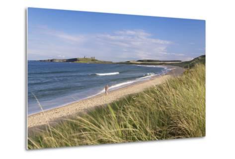 Dunstanburgh Castle and Embleton Beach-Markus Lange-Metal Print