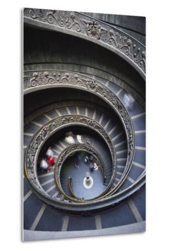 Spiral Staircase, Vatican Musuem, Rome, Italy-Adam Woolfitt-Metal Print
