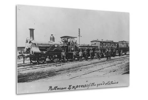 Pullman Express Locomotive--Metal Print