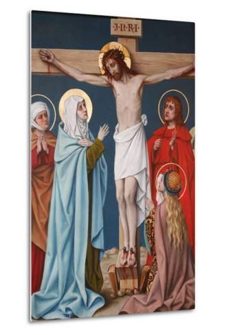 The Crucifixion of Jesus, Holy Blood Basilica, Bruges, West Flanders, Belgium, Europe-Godong-Metal Print