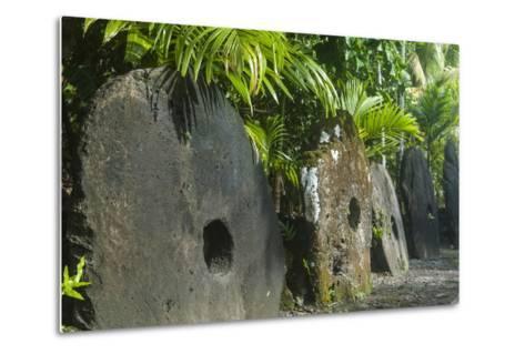 Stone Money on the Island of Yap, Federated States of Micronesia, Caroline Islands, Pacific-Michael Runkel-Metal Print