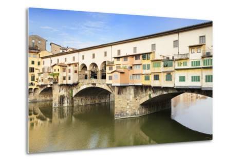 Ponte Vecchio, Florence, UNESCO World Heritage Site, Tuscany, Italy, Europe-Markus Lange-Metal Print