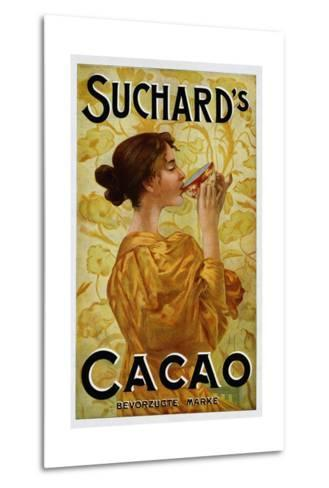 Circa 1905 Belgian Poster for Suchard's Cacao--Metal Print