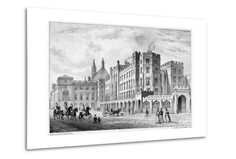 Print of Houses of Parliament before 1834 Fire--Metal Print