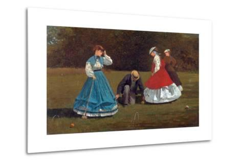 Croquet Scene-Winslow Homer-Metal Print