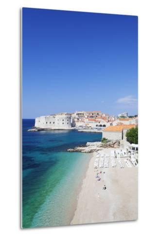 Banje Beach, Old Harbour and Old Town, UNESCO World Heritage Site-Markus Lange-Metal Print