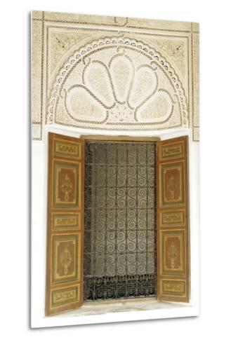 Engraved Wood Decor in Alaouite Palace of Dar Si Said-Guy Thouvenin-Metal Print