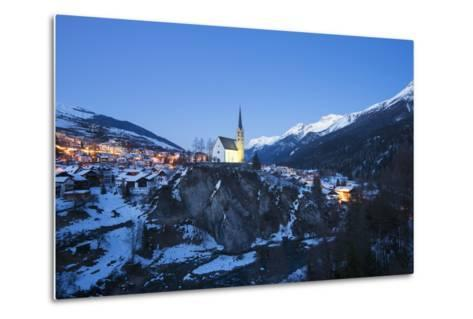 Scuol, Graubunden, Swiss Alps, Switzerland, Europe-Christian Kober-Metal Print