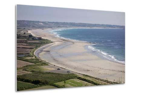 Beaches on St. Ouen's Bay, Jersey, Channel Islands, United Kingdom, Europe-Roy Rainford-Metal Print