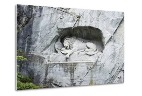 Lion Monument by Lucas Ahorn for Swiss Soldiers Who Died in the French Revolution-Christian Kober-Metal Print