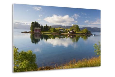 An Idyllic Rural Island in the Hardanger Fjord, Hordaland, Norway, Scandinavia, Europe-Doug Pearson-Metal Print