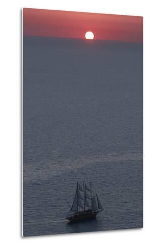 Sunset in Santorini Greece 2-Art Wolfe-Metal Print