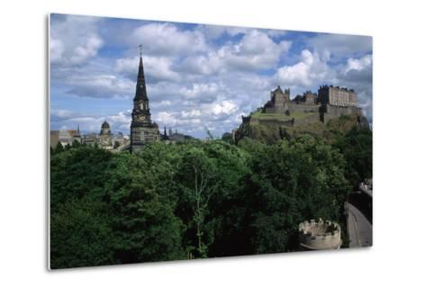 Edinburgh Castle-Vittoriano Rastelli-Metal Print