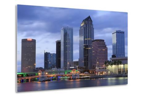 Tampa Skyline, Florida, United States of America, North America-Richard Cummins-Metal Print