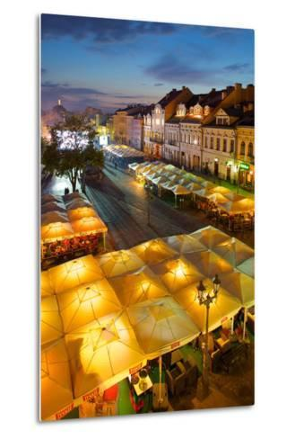 Market Square at Dusk, Old Town, Rzeszow, Poland, Europe-Frank Fell-Metal Print
