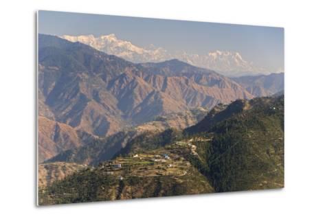 Gangotri Mountains, Garwhal Himalaya, Seen from Mussoorie Hill Station, Uttarakhand, India, Asia-Tony Waltham-Metal Print