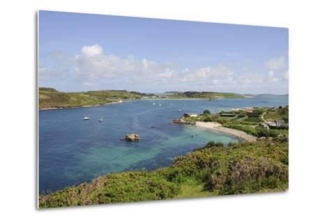 Looking over Towards Tresco from Bryher, Isles of Scilly, Cornwall, United Kingdom, Europe-Robert Harding-Metal Print