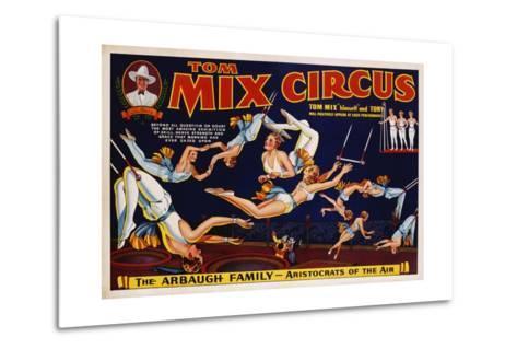 Tom Mix Circus Poster--Metal Print