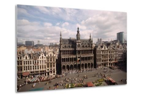 The Grand' Place in Brussels-Vittoriano Rastelli-Metal Print