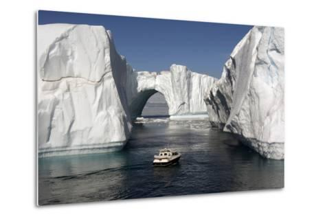 Icebergs in Disko Bay-Gabrielle and Michel Therin-Weise-Metal Print