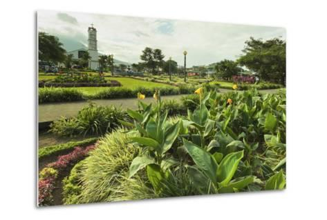 Church and Park in This Tourist Hub Town Near the Hot Springs and Arenal Volcano-Rob Francis-Metal Print