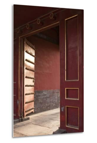 Open Gates at the Forbidden City-Paul Souders-Metal Print