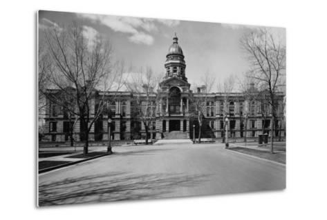 Capitol Building at the End of a Cheyenne Street--Metal Print