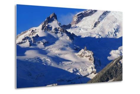 Pinnacle and Glacier on Mount Rainier-Paul Souders-Metal Print