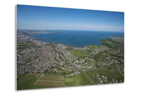 Paignton Bay with Torquay in the Background, Devon, England, United Kingdom, Europe-Dan Burton-Metal Print