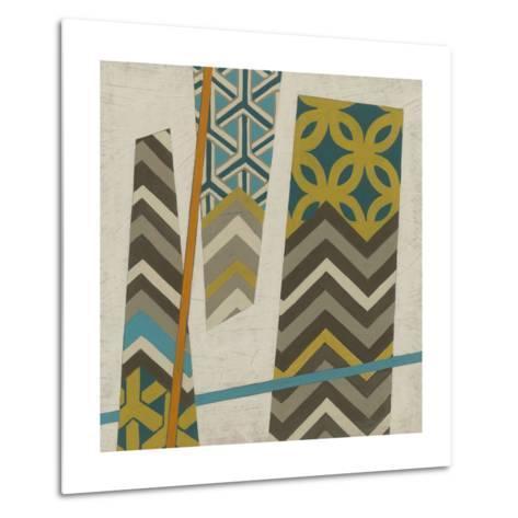 Abstract Scrapbook II-Erica J^ Vess-Metal Print