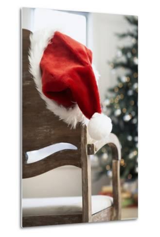 Santa Hat on Chair-Pauline St^ Denis-Metal Print