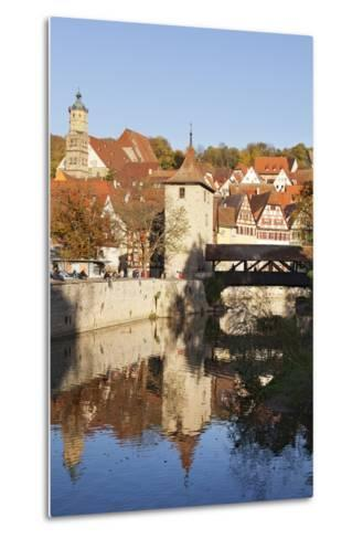 Kocher River and Old Town, Schwaebisch Hall, Hohenlohe, Baden Wurttemberg, Germany, Europe-Markus Lange-Metal Print