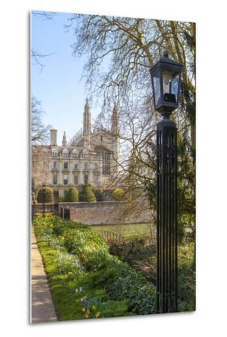 A View of Kings College from the Backs, Cambridge, Cambridgeshire, England, United Kingdom, Europe-Charlie Harding-Metal Print