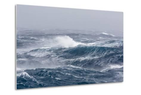 Gale Force Westerly Winds Build Large Waves in the Drake Passage, Antarctica, Polar Regions-Michael Nolan-Metal Print