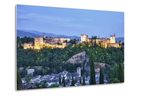 Evening Lights from the Alhambra Palace-Terry Eggers-Metal Print