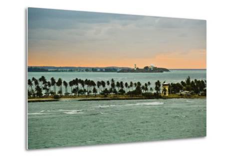 Sra and Old San Juan in Distance, Puerto Rico-Massimo Borchi-Metal Print