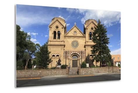 St. Francis Cathedral (Basilica of St. Francis of Assisi), Santa Fe, New Mexico, Usa-Wendy Connett-Metal Print